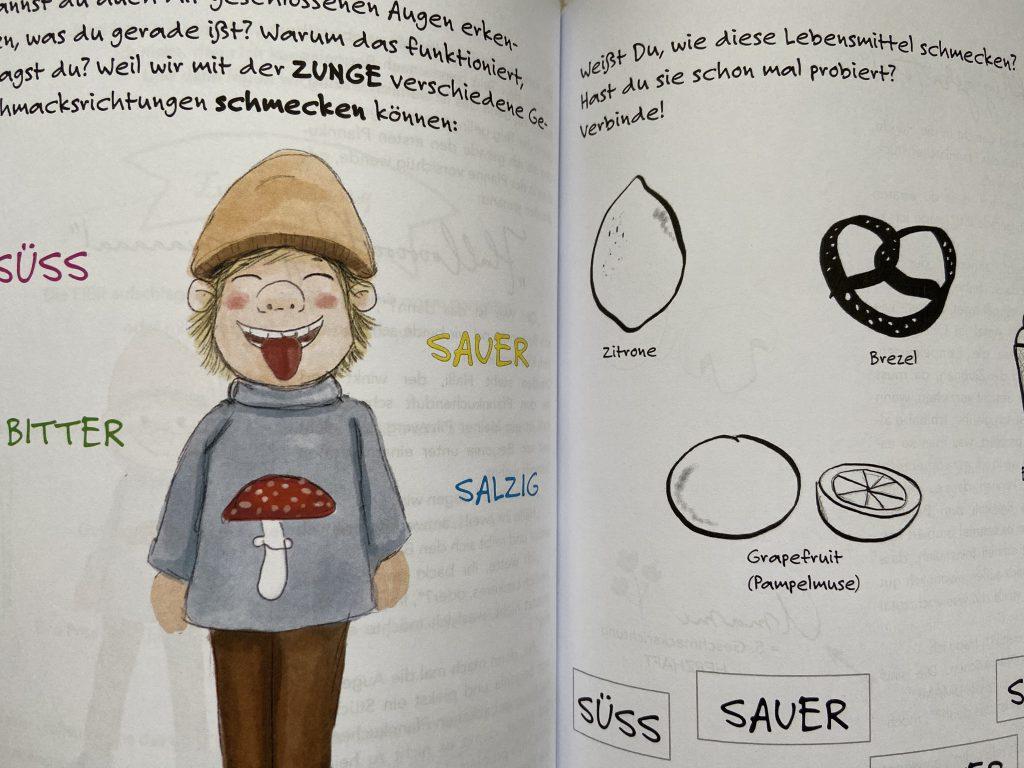 Kinderkochbuch Kinder Sinne lernen riechen schmecken