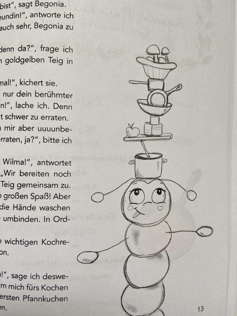 Kinderkochbuch mit Wilma Wochenwurm Herbst Winter Weihnachtsplätzchen Halloween