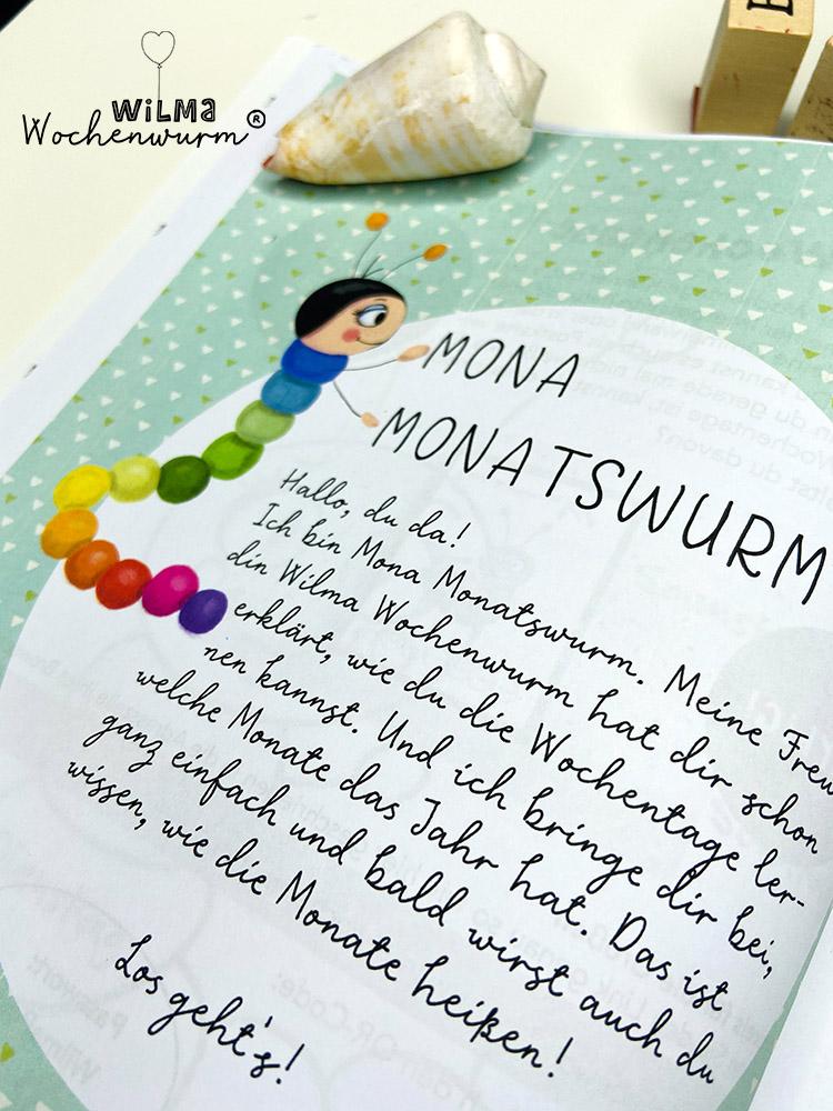Lerngeschichten mit Wilma Wochenwurm das wurmstarke Vorschulbuch Monate lernen Jahreszeiten für Kinder Mona Monatswurm Susanne Bohne