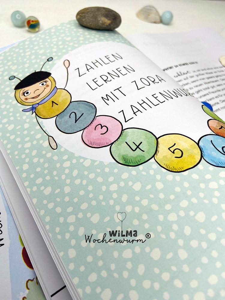 Lerngeschichten mit Wilma Wochenwurm das wurmstarke Vorschulbuch Zahlen lernen Zora Zahlenwurm Susanne Bohne