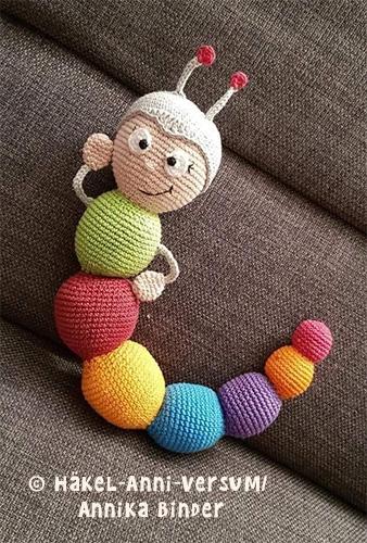 Wilma Wochenwurm Häkelanleitung Häkeln Puppe