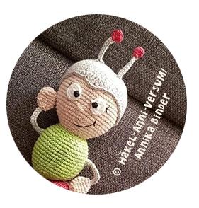 Kostenlose Häkelanleitung Wilma Wochenwurm Puppe für Kinder im Kindergarten