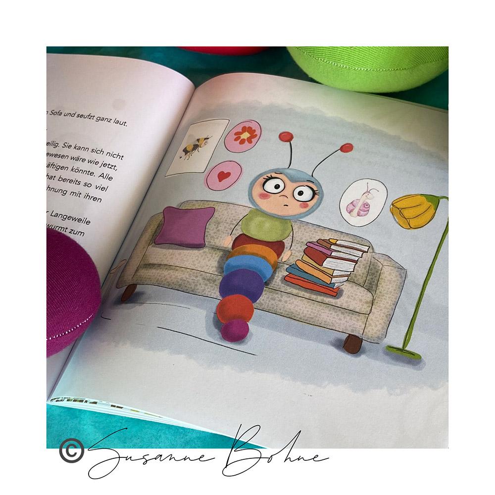 Wilma Wochenwurm erklärt Wir halten alle fest zusammen - ein Corona Kinderbuch von Susanne Bohne Quarantäne