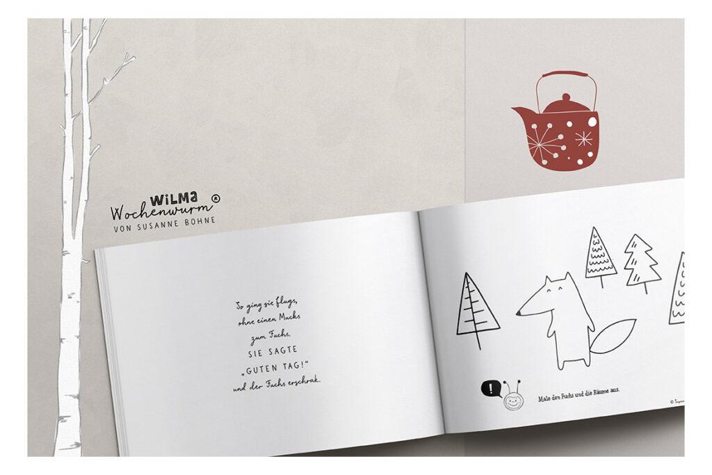 Wilma Wochenwurm erzählt - Die Weihnachtsmann-Maus namens Claus von Susanne Bohne Reimgedicht für Kinder Kopie