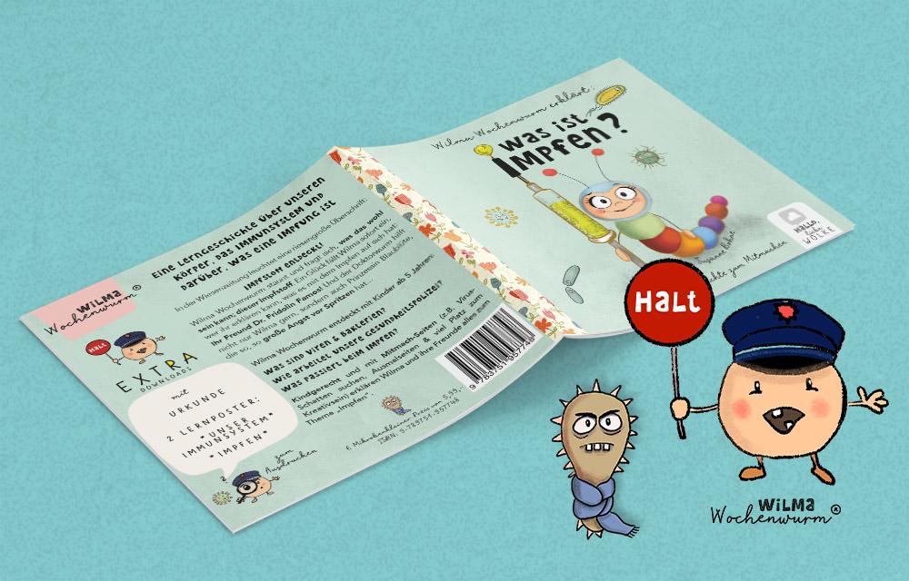 Was ist Impfen Wilma Wochenwurm erklärt Impfung Kinderbuch